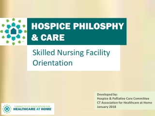 HOSPICE PHILOSPHY & CARE COORDINATION