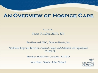 An Overview of Hospice Care