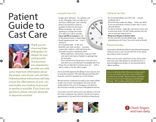 Patient Guide to Cast Care