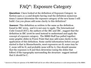FAQ*: Presentation Classification
