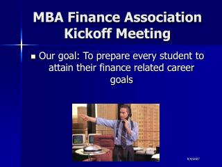 MBA Money Affiliation Kickoff Meeting