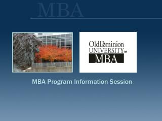 MBA Program Data Session