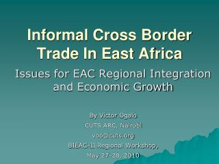 Casual Cross Border Trade In East Africa