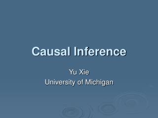 Causal Inference