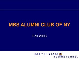 MBS Graduated class CLUB OF NY