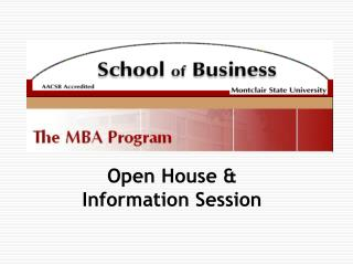 Open House and Data Session