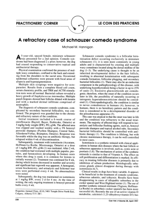 A refractory case of schnauzer comedo syndrome