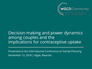 implications for contraceptive uptake