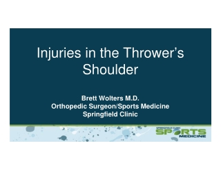 Injuries in the Thrower's Shoulder