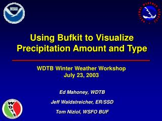 Utilizing Bufkit to Visualize Precipitation Amount and Type