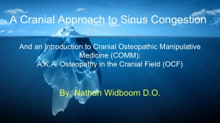 A Cranial Approach to Sinus Congestion