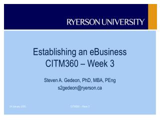 Building up an eBusiness CITM360 Week 3