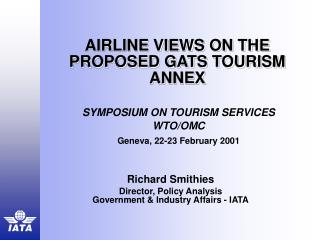 Aircraft Sees ON THE PROPOSED GATS TOURISM Attach