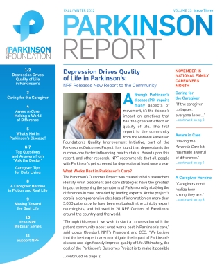 Depression Drives Quality of Life in Parkinson's:
