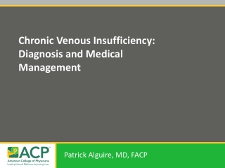 Chronic Venous Insufficiency: