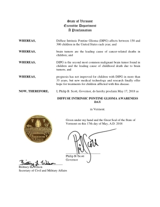 State of Vermont Executive Department A Proclamation