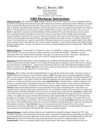 GRS Discharge Instructions