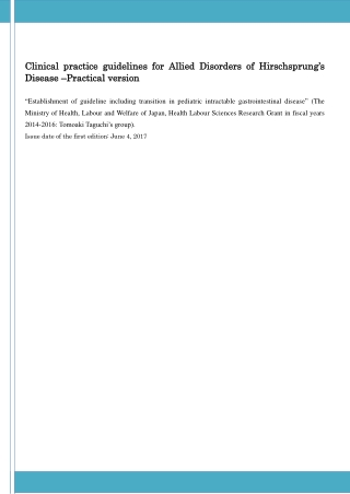 Clinical practice guideline Clinical practice guidelines s for Al D Disease isease