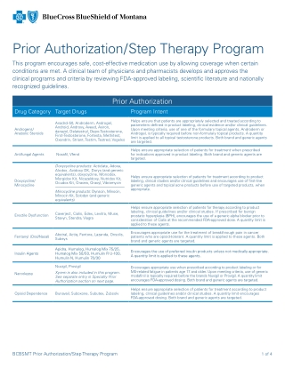 Prior Authorization/Step Therapy Program