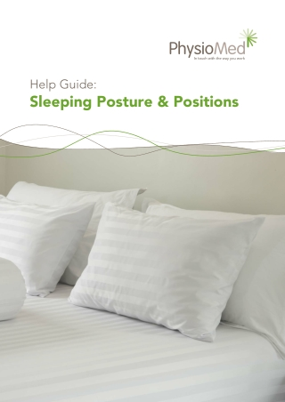 Sleeping Posture & Positions