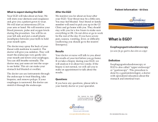 What is EGD?