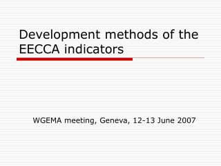 Improvement routines for the EECCA pointers