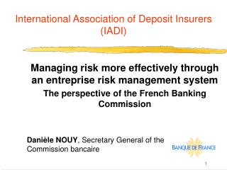 Universal Association of Deposit Insurers IADI