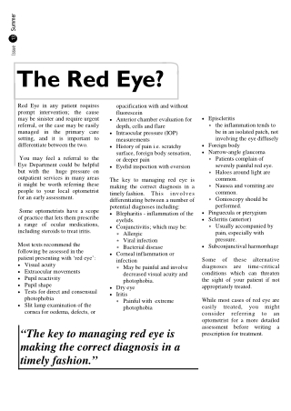 The Red Eye?