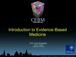 Introduction to Evidence-Based