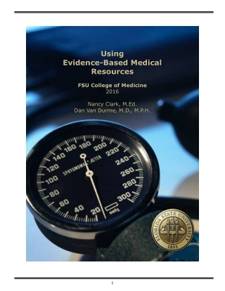 Using Evidence-Based Medical Resources