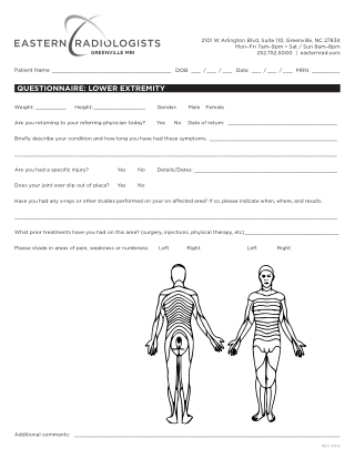 QUESTIONNAIRE: LOWER EXTREMITY