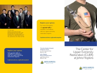 The Center for Upper Extremity Restoration (CUER) at Johns Hopkins