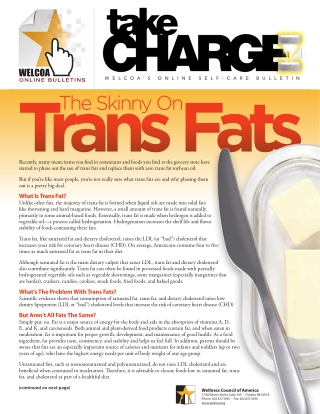 What Is Trans Fat?