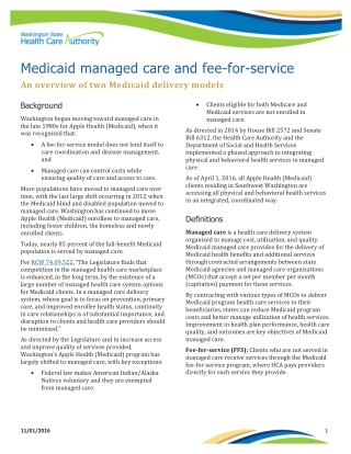 Medicaid managed care and fee-for-service