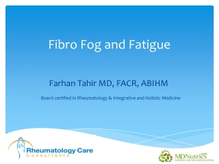 Fibro Fog and Fatigue