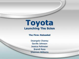 Toyota Propelling The Scion