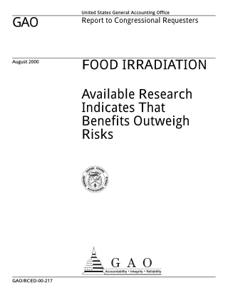 GAO FOOD IRRADIATION