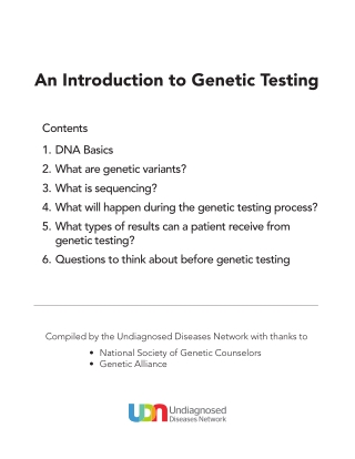 An Introduction to Genetic Testing