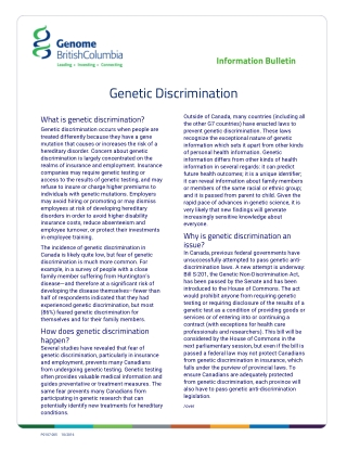 Genetic Discrimination