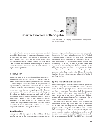 Inherited Disorders of Hemoglobin