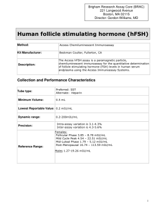 Human follicle stimulating hormone (hFSH)
