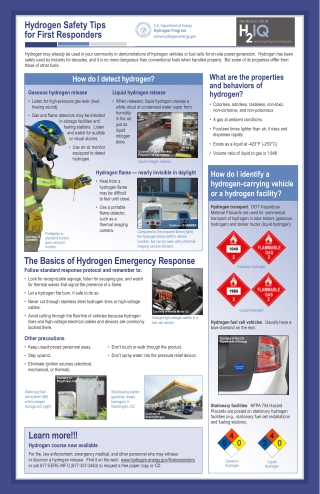 Hydrogen Safety Tips for First Responders