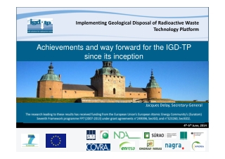 Achievements and way forward for the IGD-TP since its inception