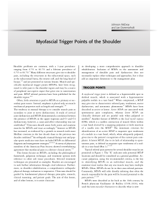 Myofascial Trigger Points of the Shoulder