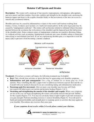 Rotator Cuff Sprain and Strains