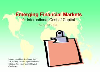 Developing Financial Markets