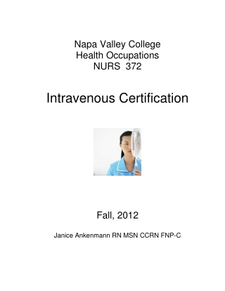 Intravenous Certification