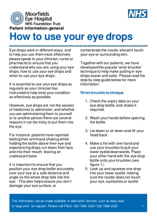 How to use your eye drops
