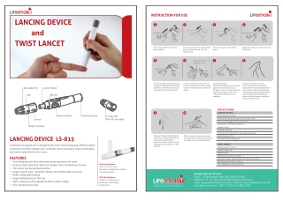 LANCING DEVICE and TWIST LANCET