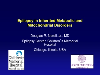 Epilepsy in Inherited Metabolic and Mitochondrial Disorders